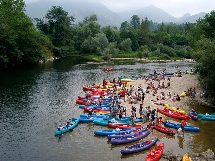 Descenso del sella en canoa con Cangas Aventura