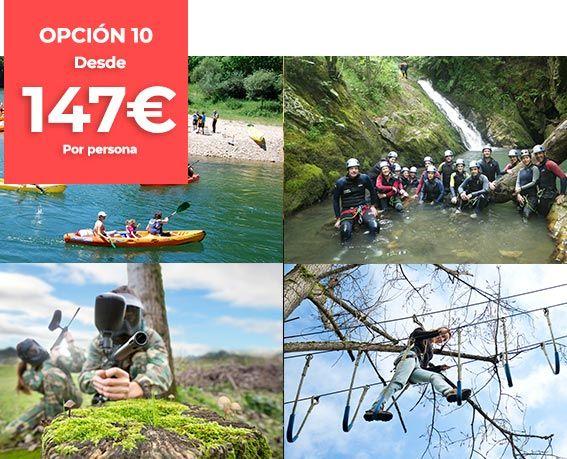 Opción 10 Viajes de estudios con Cangas Aventura